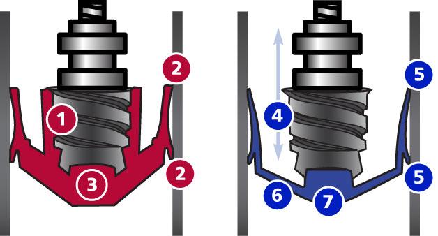 Dispensing pistons